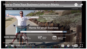 Manta Video How to Claim Your Business Listing