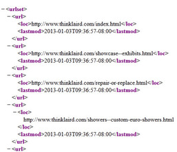 Sample sitemap for www.thinklaird.com