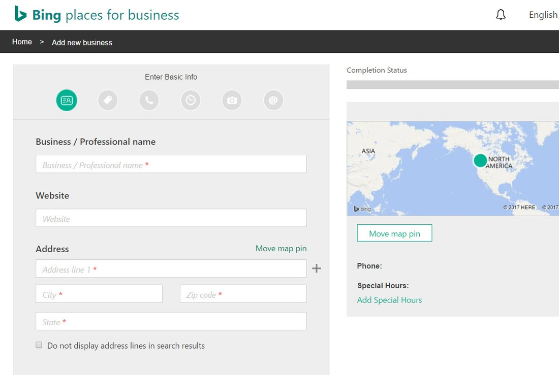 Bing Places Business Profile