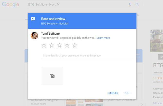 Google Rate and Review