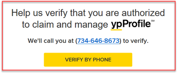 YP Verify by Phone